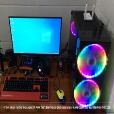 FULLPC Gaming MSI H410M/G6400/ RAM 8G/SSD 256GB/LCD HKC 24 inch/phím chuột game/tai nghe