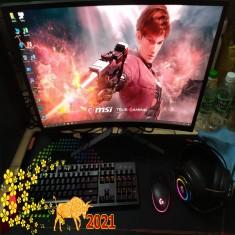 FULLSET PC Game MSI B460M MORTAR/I3 10100F/GTX 1650ventus 4gb/RAM 16G/SSD 256GB/HKC 27inch 144hz