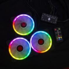 Bộ Fan LED RGB 3 Fan + Remote