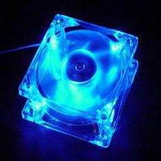Fan case 8cm trong suốt đèn màu